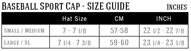 baseball-sport-cap-size-guide